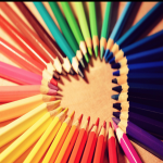 colored pencils in shape of heart with text overlay - Soft Start Mornings for Your Classroom
