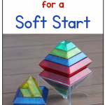 Text says: Tips & Tricks for a Soft Start. Photo of two block towers.