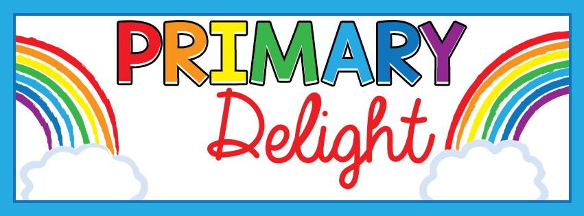 "Colorful text that says ""Primary Delight."""