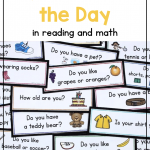 Photo of a colorful collections of questions of the day. Text says: How to Use Question of the Day in Reading and Math