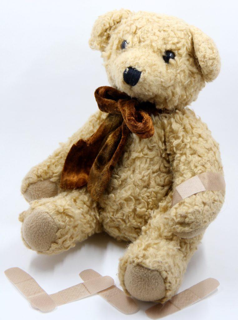 Photo of a stuffed teddy bear.