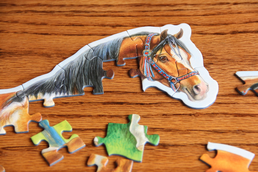 Photo of a partially completed puzzle - an example of student choice in the classroom at the beginning of the school day.