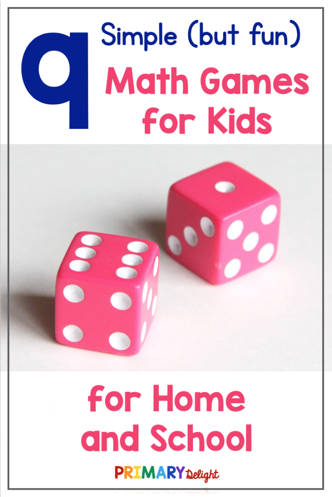 9 Simple But Fun Math Games For Kids Primary Delight