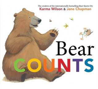 """Book Cover for """"Bear Counts"""" by Karma Wilson."""