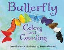 """Book cover for """"Butterfly Colors and Counting"""" by Jerry Pallotta."""