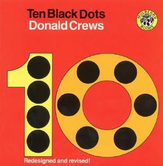 """Book cover for """"Ten Black Dots"""" by Donald Crews, one of many number books for kindergarten."""