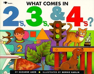 """Book cover for """"What Comes in 2's, 3's & 4's?"""" by Suzanne Aker."""