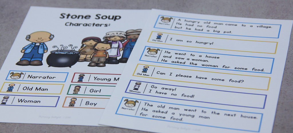 Photo of script for Stone Soup.